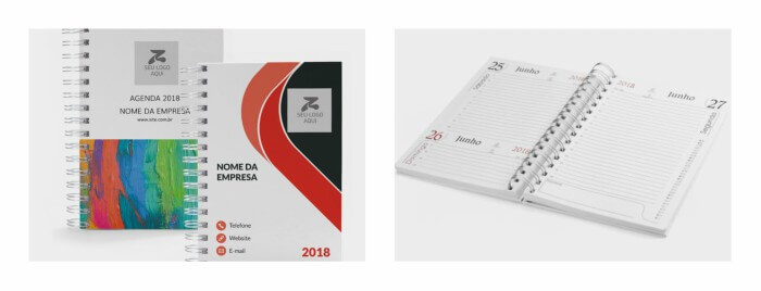 Agendas personalizadas e calendário