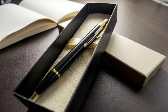 Uma caneta de executivo