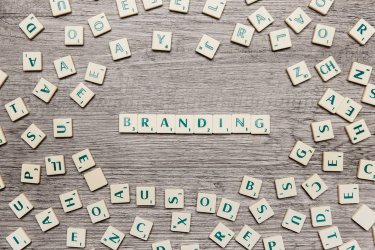 Letras palavra branding