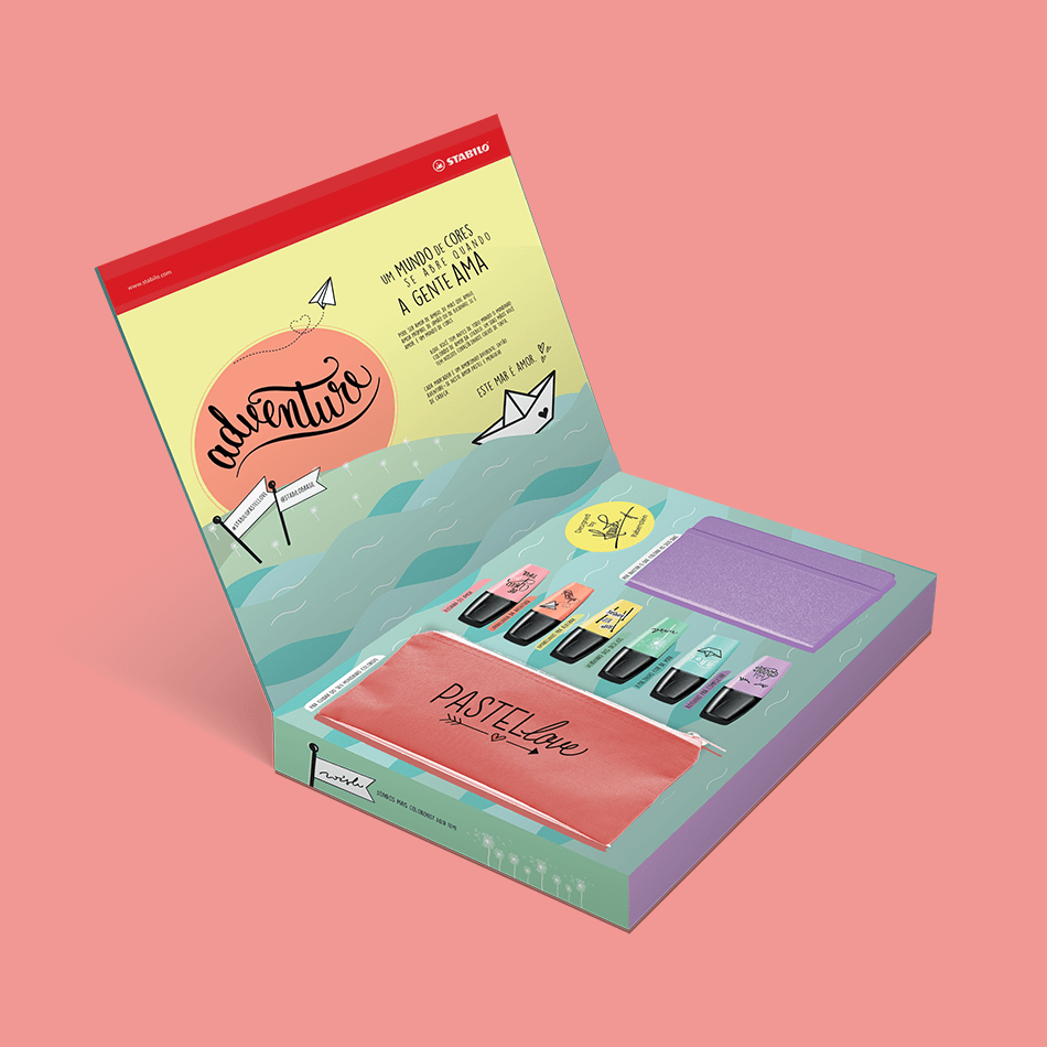 Press kit de marca textos coloridos