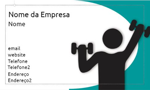 Cartão de visitas para personal trainer