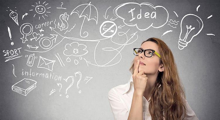 Mulher pensando em como começar um negócio