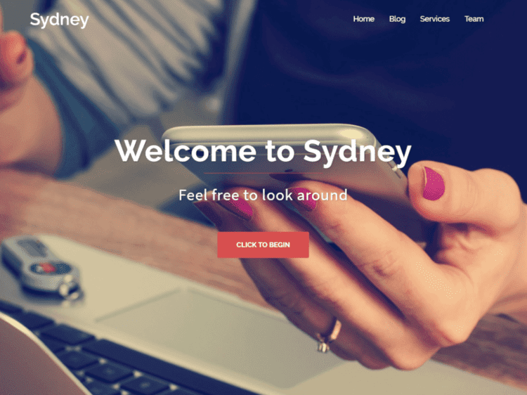 Imagem que aparece no wordpress quando é escolhido o tema Sidney