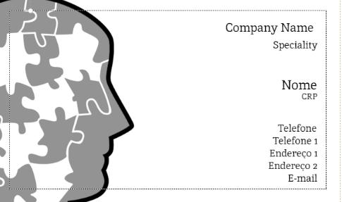 Modelo de cartão de visita da Zocprint